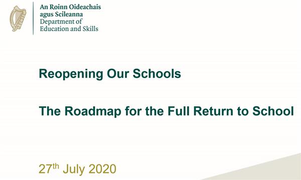 Reopening Schools - The Roadmap 2020-2021