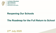 Reopening Schools - The Roadmap 2020-2021